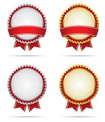 Gold and Silver Award Badges