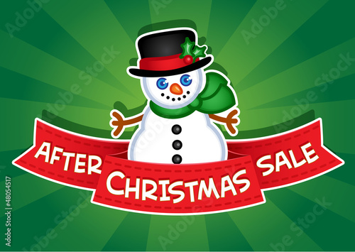 After Christmas Sale Banner / Snowman