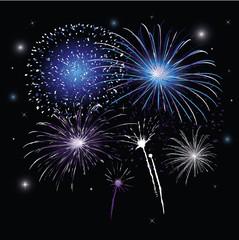 Sylvester, Silvester, Neujahr, Feuerwerk, blau, lila