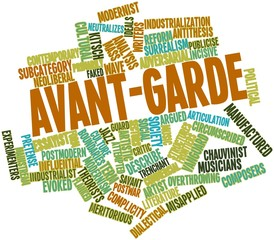 Word cloud for Avant-garde