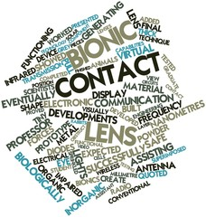 Word cloud for Bionic contact lens