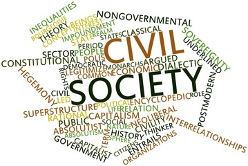 Word cloud for Civil society
