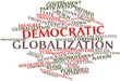 Word cloud for Democratic globalization