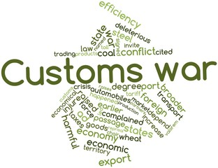 Word cloud for Customs war