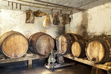 Interior of very old wine cellar