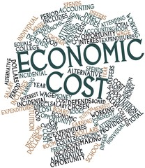 Word cloud for Economic cost