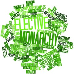 Word cloud for Elective monarchy