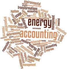 Word cloud for Energy accounting