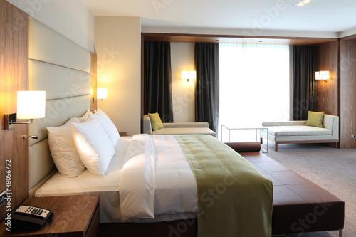 Leinwanddruck Bild Hotel room