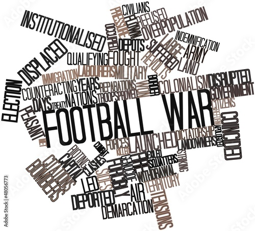 Word cloud for Football War