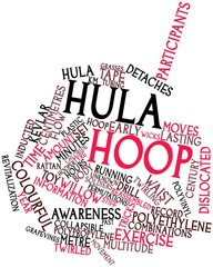 Word cloud for Hula hoop