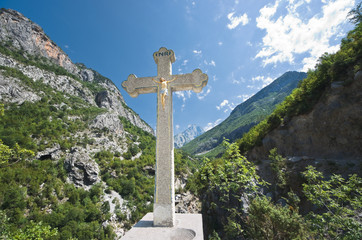 Crucifix in Albanian Mountains