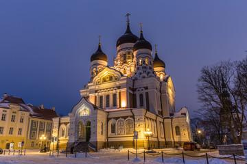 Alexander-Newski-Kathedrale im Abendlicht
