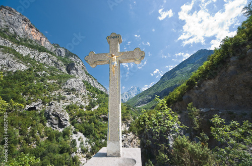 Crucifix in Albanian Mountains © ollirg
