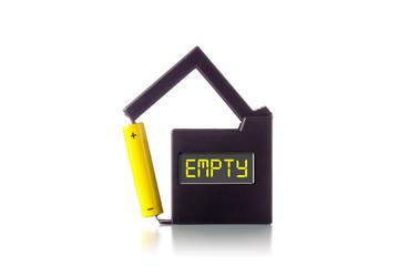 """Batterietester mit Anzeige """"EMPTY"""""""