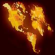 Shining pixel world map