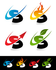 Swoosh Alphabet Icons S