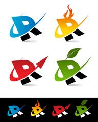 Swoosh Alphabet Icons R