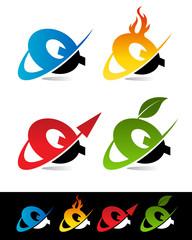 Swoosh Alphabet Icons Q