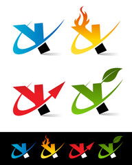 Swoosh Alphabet Icons Y