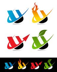 Swoosh Alphabet Icons U