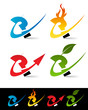 Swoosh Question Icons