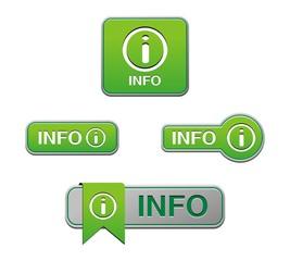 green info buttons