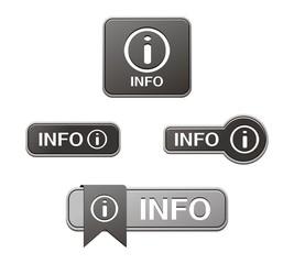 black info buttons