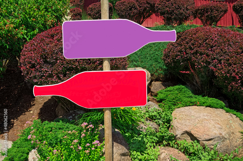 Blank Bottle Shaped Signs