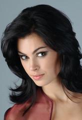 Portrait of sophisticated brunette woman