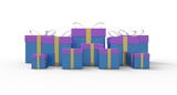 Bounty of gift boxes poster