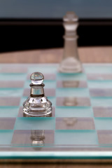 Pawn King Chess Pieces - Business Concept - coach, mentor.