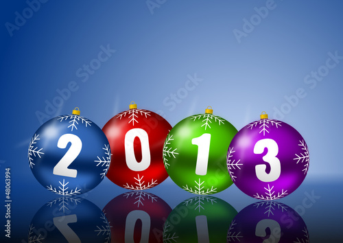 2013 new year vector illustration with christmas balls