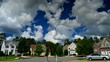 Time lapse of idyllic suburbs with homes time lapse