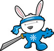 Cute Bunny Rabbit Ninja Vector