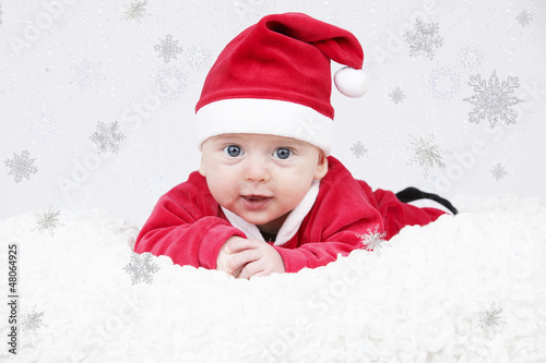 Child red baby Santa hat