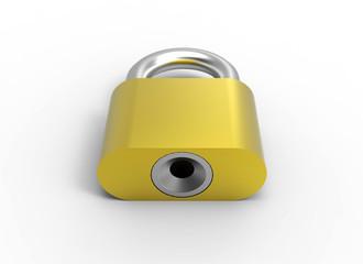 Gold lock 3D