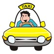 man in the car-taxi