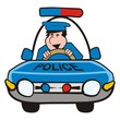 man in the car-police