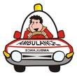 man in the car-ambulance