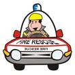 man in the car-fire rescue