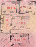 Passport. Stamps and visas