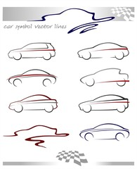 car symbols sihlouette design_2