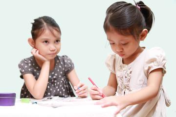Kid Feel Bored While Watching Her Sister Doing Homework