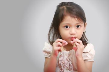 Kid Playing Mom's Lipstick