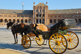 Horse coach at  Spain square, Seville (Spain)