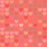 Valentine background with hearts, repetitive pattern poster