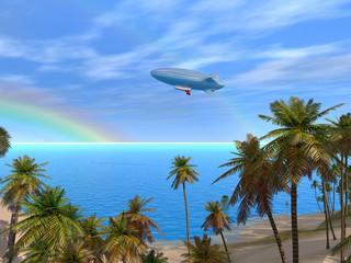 Sunny Caribbean Lagoon