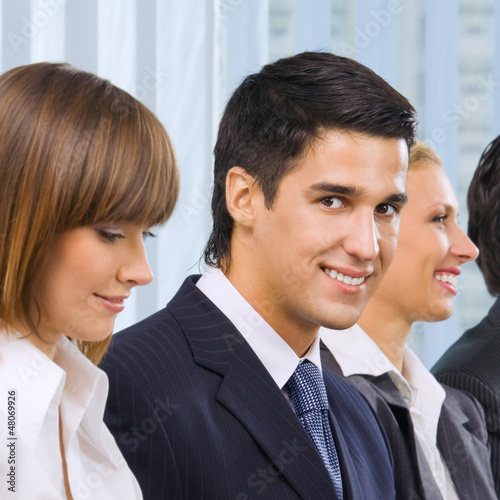 Businesspeople at meeting, seminar or training