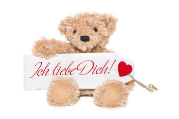 Herr Bär sagt: Ich liebe Dich